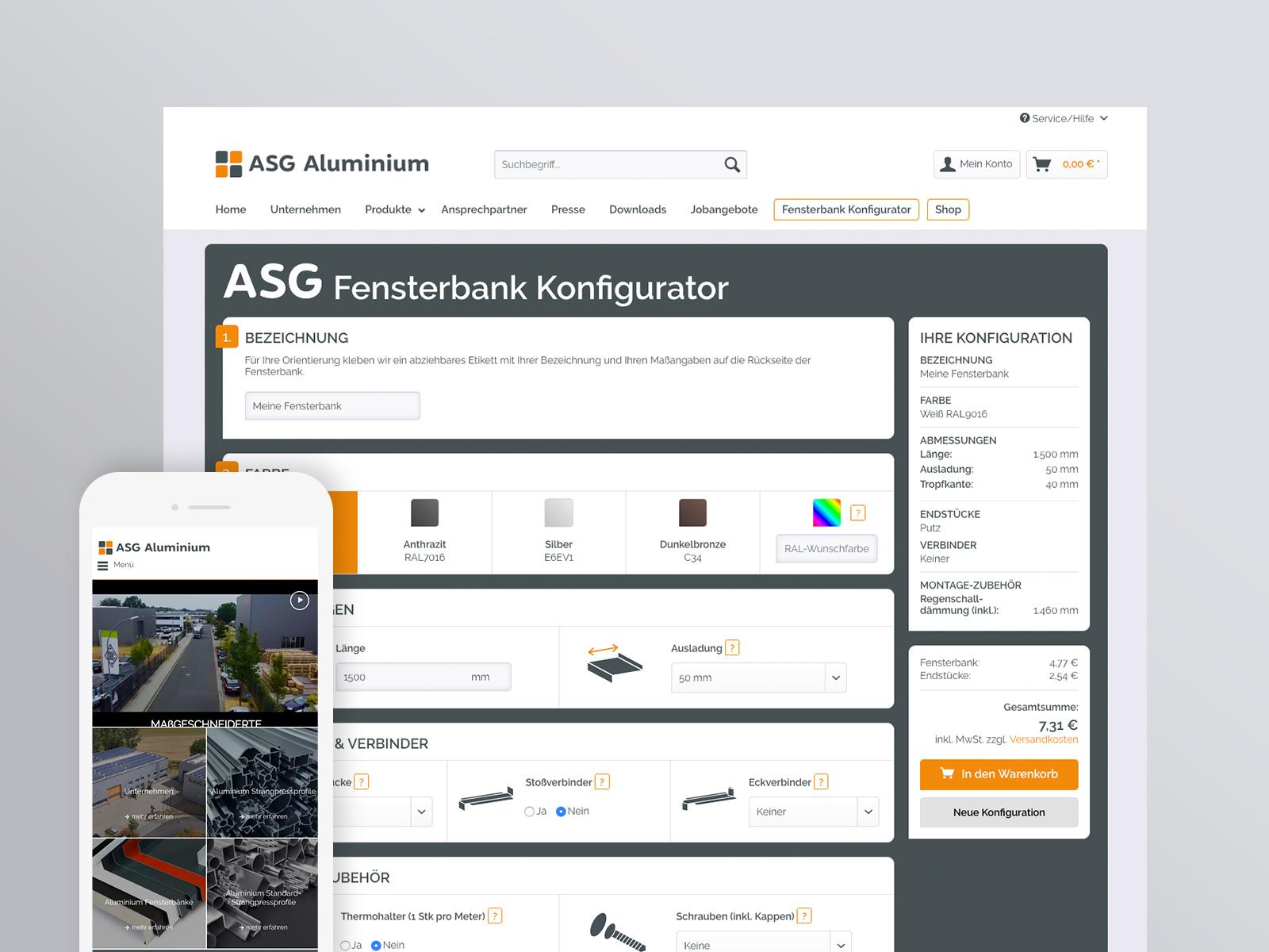 Referenz ASG Aluminium - Agentur hallöchen